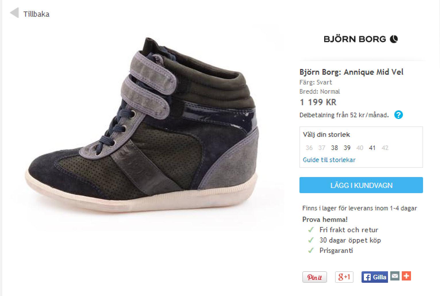 Björn Borg wedge sneakers Sverige