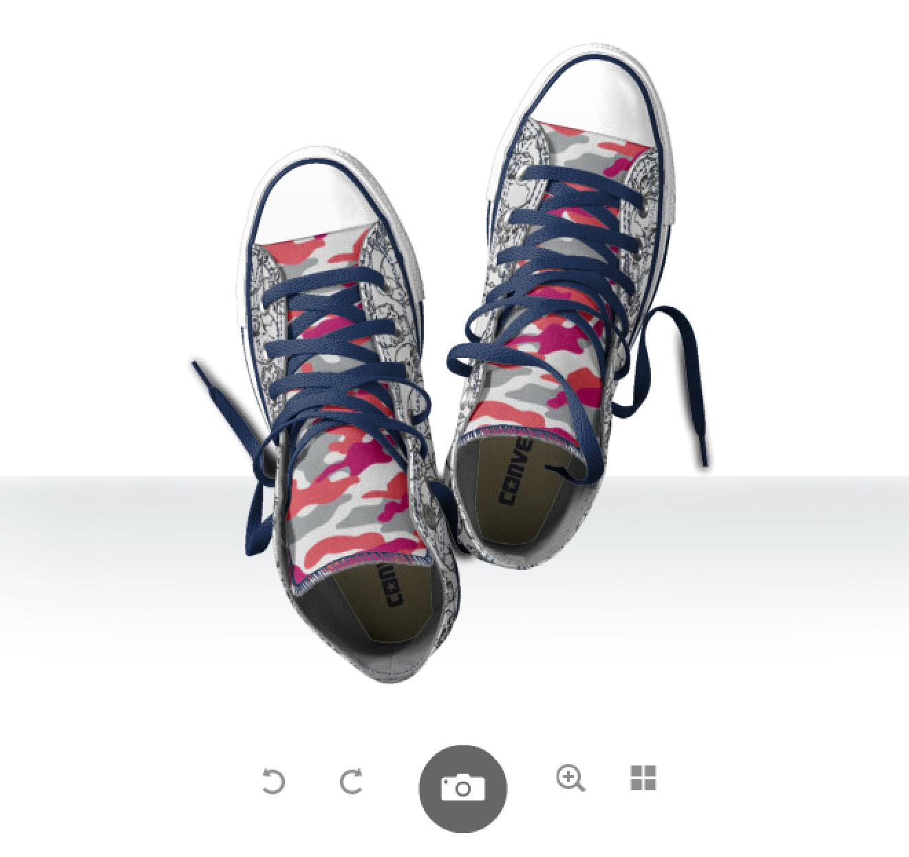 Designa dina Converse, bild ovanifrån!