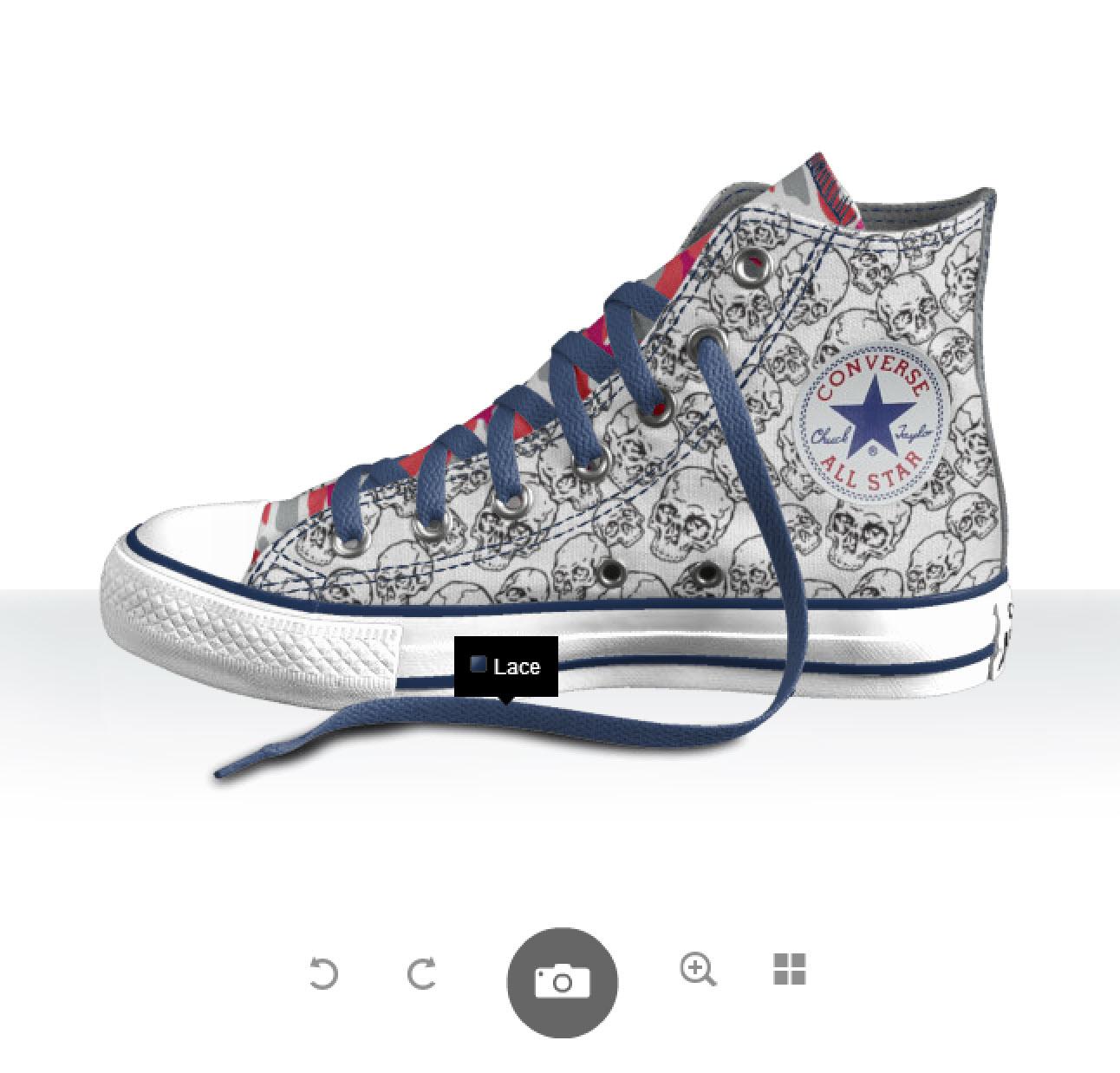 Designa dina egna Converse Sverige, dödskalle-look - I love it!