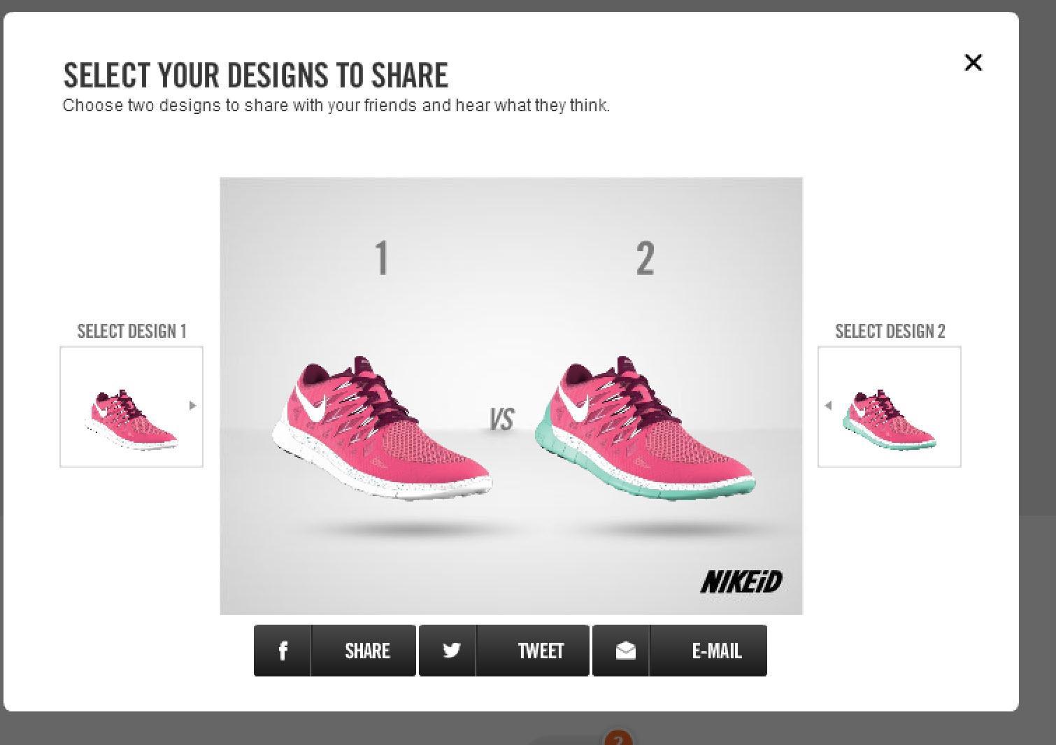 Jämför dina NIKE ID skor innan du väljer att köpa!