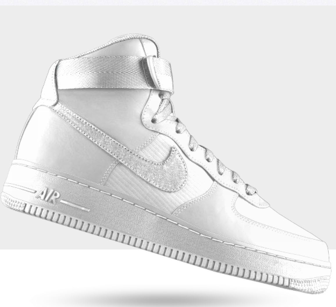 Vita egendesign av customfoo.se Vita Air force one från Nike.