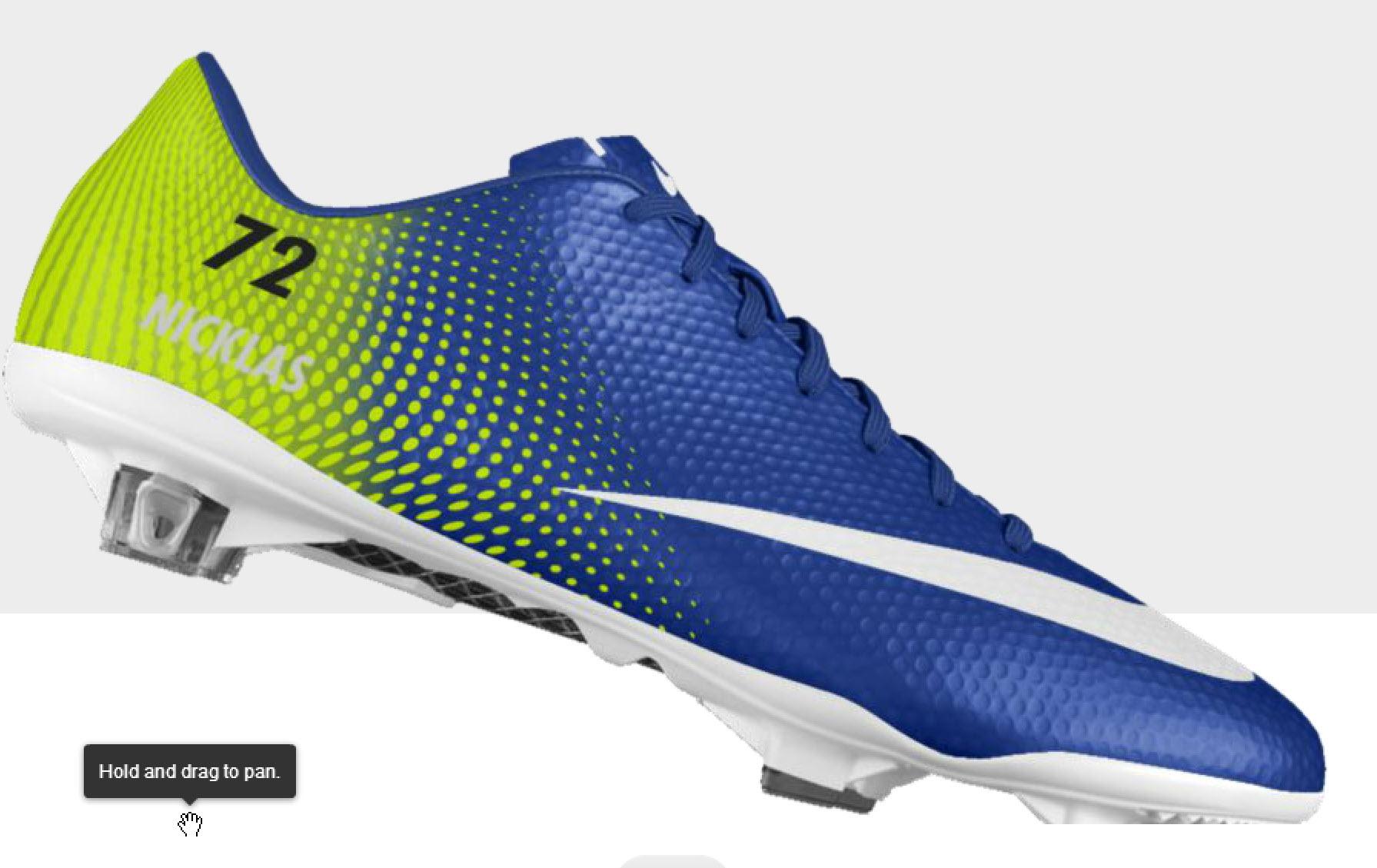 Du kan enkelt sätta eget nummer på fotbollsskon via NikeID.