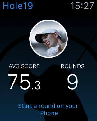 Apple Watch Golf Hole19 app